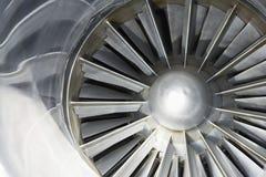 Turbin av ett flygplan royaltyfria bilder