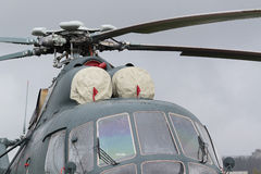 Turbin av helikoptern royaltyfria foton