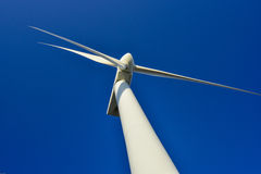 Turbin wind power in southern Italy. Stock Photo