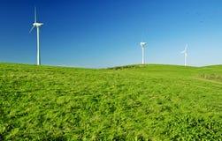 turbina śródpolny zielony wiatr Zielenieje energię Zdjęcia Stock