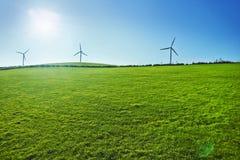 turbina śródpolny zielony wiatr Zielenieje energię Fotografia Royalty Free