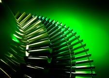 Turbina con fondo verde Fotografie Stock Libere da Diritti