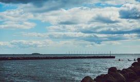 Turbina da roda de vento Fotos de Stock