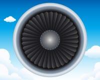 Turbina de los aviones Imagen de archivo libre de regalías
