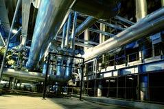 Turbina de los tubos, de los tubos, de la maquinaria y de vapor Imágenes de archivo libres de regalías