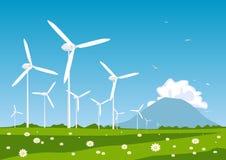Turbina de vento ilustração royalty free