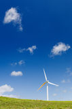 Turbina de vento, potência verde, gerador da eletricidade Fotos de Stock