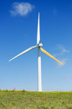 Turbina de vento, potência verde, gerador da eletricidade Fotos de Stock Royalty Free
