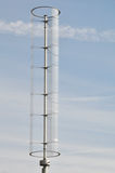 Turbina de vento vertical moderna da linha central Fotos de Stock Royalty Free