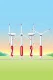 Turbina de viento 2020 - — Aerogerador de JAK Fotos de archivo libres de regalías