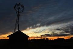 Turbina de viento agrícola vieja Fotografía de archivo