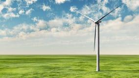 Turbina de viento en hierba Fotos de archivo