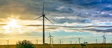 Turbina de viento en Indiana del noroeste fotografía de archivo libre de regalías