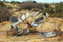 Turbina de viento vieja Imágenes de archivo libres de regalías