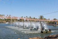Turbina del agua que hace girar para limpio y el tratamiento Fotografía de archivo libre de regalías