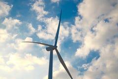 Turbina del mulino a vento a Khao Kor, Petchaboon, Tailandia Immagine Stock Libera da Diritti