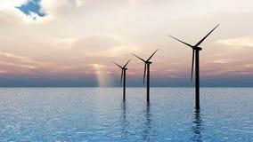 turbina denny wiatr Obrazy Stock