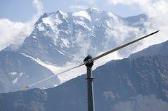Turbina di vento della montagna Immagini Stock