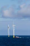 Turbina di vento in mare aperto Fotografia Stock Libera da Diritti