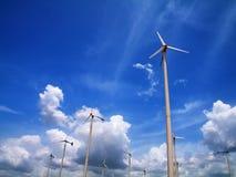 Turbina di vento moderna Fotografia Stock Libera da Diritti