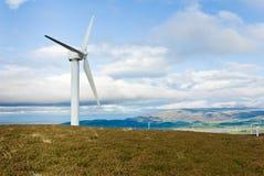 Turbina di vento (paesaggio) Fotografie Stock Libere da Diritti