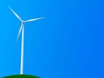 Turbina di vento sola Immagini Stock Libere da Diritti