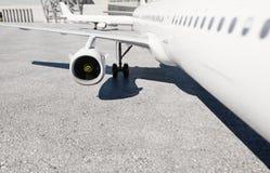 Turbina dos aviões Avião conceito do curso rendição 3d Fotos de Stock Royalty Free