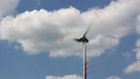 Turbina eólica video estoque