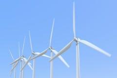 turbina eólica da rendição 3D Fotos de Stock