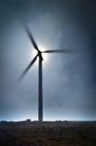 Turbina eólica de Madeira no platô de Paul de Serra Fotos de Stock Royalty Free