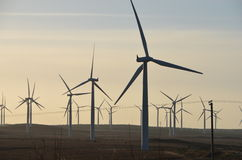 Turbina eólica em Escócia rural Fotografia de Stock Royalty Free