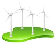 Turbina eólica, energias eólicas, energia renovável Imagens de Stock
