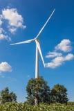 Turbina eólica para a energia alternativa Fotos de Stock Royalty Free