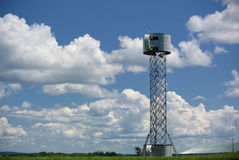 Turbina eólica sob a construção Fotos de Stock Royalty Free