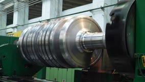 Turbina el?ctrica de fabricaci?n del rotor del poder para el generador almacen de metraje de vídeo
