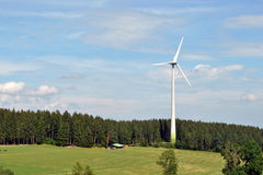 Turbina eólica - Floresta Negra Imagens de Stock