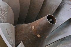 Turbina hidráulica velha foto de stock