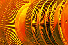 Turbina industriale fotografie stock