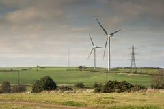 turbina krajobrazowy wiatr Zdjęcia Stock