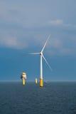 turbina na morzu wiatr Obraz Royalty Free