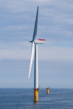 turbina na morzu wiatr Obrazy Royalty Free