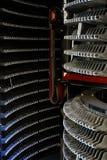 Turbina plana moderna para dentro com muitas lâminas fotografia de stock