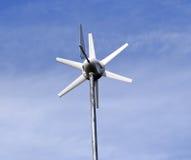 turbina przyjaznego środowiska podczas pracy wiatru słonecznego Obrazy Royalty Free