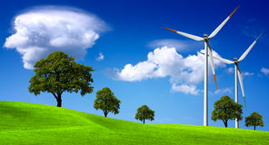 turbina rolny wiatr zdjęcie royalty free