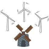 turbina wiatr ilustracja wektor