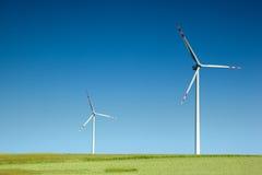 turbina wiatr dwa Fotografia Royalty Free