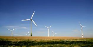 turbina wiatr rolnych Fotografia Royalty Free