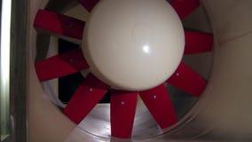 Turbina wiatrowy tunel dla pojazdu bada, zakończenie zdjęcie wideo
