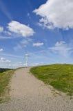 Turbina y bancos de viento con una visión Imagen de archivo libre de regalías