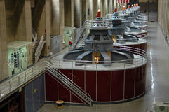 Turbinas da represa de Hoover Imagem de Stock Royalty Free